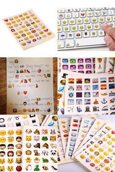 [Visit to Buy]  20 Sheets 960 Die Cut Emoji Smile Sticker Laptop Notebook Message Cartoon Emoji Sticker Promotional Gifts #Advertisement