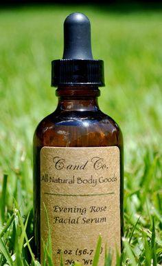 Evening Rose Facial Serum  C and Co. All Natural Body Goods www.candconaturals.com