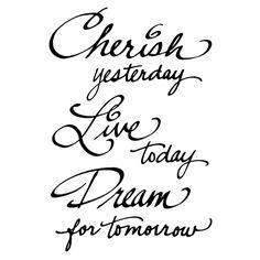 Cling Stamp, Cherish...Dream