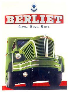 Berliet GLR 4 cyl., 5 cyl., 6 cyl., 1953.