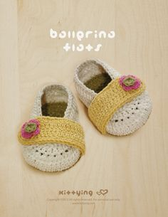 Ballerina Flats Crochet PATTERN from mulu.us   This pattern includes sizes for 0 - 12 months.