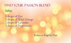 FIND YOUR PASSION Blend - These oils can be purchased from Spark Naturals. Use the code JEDDY to get an additional 10% off your order.