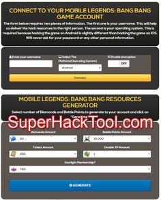 Mobile Legends: Bang Bang Online Hack - Get Unlimited Diamonds and Battle Points Cheat Online, Play Hacks, App Hack, Android Hacks, Ps4 Games, Mobile Legends, Cheating, Battle, Manish
