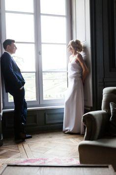 Ludivine Guillot - Robe de mariée sur mesure - Lyon - Fluide rétro champêtre bohème chic dentelle dos nu transparence crêpe