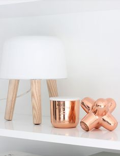 Via Nordic Leaves | #Copper and White | Tom Dixon Cast Mini Jack and Candle | Norm Milk Light