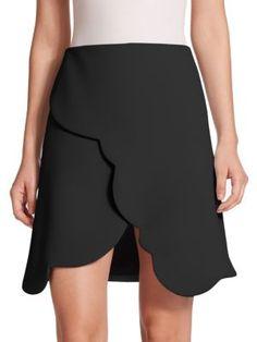 CARVEN Crepe Scallop Skirt. #carven #cloth #skirt