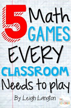 5 Math games that EVERY classroom needs to play! These are great suggestions for games involving supplies I…