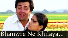 "Presenting super hit romantic song ""Bhanwre Ne Khilaya Phool Phool Ko Le Gay Raajkunwar"" from Prem Rog. Hit Songs, News Songs, Padmini Kolhapure, Old Bollywood Songs, Old Song Download, Shammi Kapoor, Rishi Kapoor, Film Song, Lata Mangeshkar"