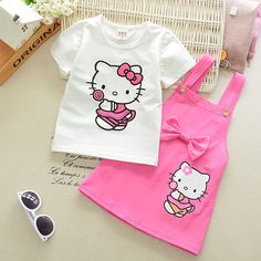 Girls Dress Hello Kitty Lovely Princess Kids Dresses for Girls 2017 Summer Toddler Girls Clothing Sets Kids Clothes - Kid Shop Global - Kids & Baby Shop Online - baby & kids clothing, toys for baby & kid Baby Outfits, Toddler Girl Outfits, Toddler Girls, Baby Kids, Dress Outfits, Fitness Lady, Hello Kitty Dress, Baby Girl Tops, Baby Shop Online