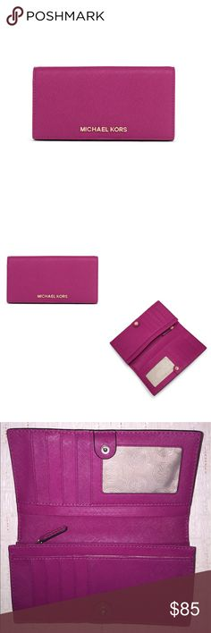 Michael Kors | Wallet Slim Saffiano Jet Set Travel Wallet Michael Kors Bags Wallets