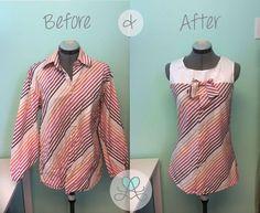 Men's Dress Shirt Refashion {A Pinspiration Project}
