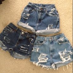 My DIY distressed high waist shorts have been washed! I must admit that they came out better than I expected. Take the time to hit up the thrift store for 'mom jeans' and use those magic scissors to save money. I only paid $6.00!