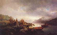 Hans Gude--Likferd Pa Sognefjorden--1853.jpg