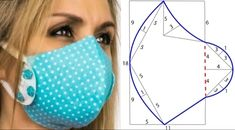 Mouth Mask Fashion, Fashion Mask, Sewing Hacks, Sewing Crafts, Sewing Projects, Star Quilt Patterns, Sewing Patterns Free, Easy Face Masks, Diy Face Mask