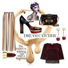 """""""Dream Weaver"""" by obsessedaboutstyle ❤ liked on Polyvore featuring Schield Collection, Valentino, Maison Père, River Island, Prada, Wella, StyleBlogger and polyvoreeditorial"""