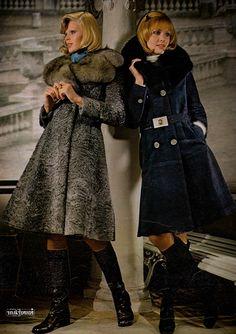 Ted Lapidus, Jours de France - Automne 1972 Vintage Fur, Vintage Boots, Vintage Love, Seventies Fashion, Mod Fashion, Vintage Fashion, France Outfits, Ted Lapidus, Christian Dior