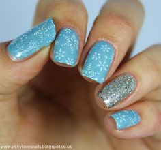 Vicky Loves Nails: Snowflake Stamping with MoYou Nails