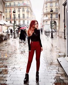 It girl - luanna in colourful girl cabelo ruivo *clique para ver post compl Grunge Outfits, Edgy Outfits, Mode Outfits, Fall Outfits, Fashion Outfits, Womens Fashion, Fashion Tips, Fashion Fashion, Mode Grunge