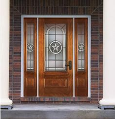 I also like the look of these doors, but we are still leaning toward the double entry door look.