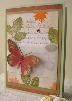 Heart-winged butterfly by Jacqueline.fr, via Flickr  I love the colors in this