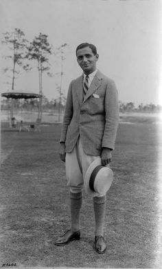 Silent film actor Eddie Polo at the Miami Biltmore Hotel and Country Club in Coral Gables, Florida. 1925