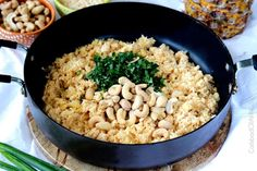 Coconut Rice with Pineapple and Cashews is about to become your new addiction! This Coconut Rice is sweet, slightly creamy cooked coconut milk, pineapple juice and crushed pineapple, brightened by cilantro, lime and roasted cashews AKA HEAVENLY! Pineapple Coconut, Coconut Rice, Crushed Pineapple, Pineapple Juice, Rice Recipes, Asian Recipes, Healthy Recipes, Rice To Riches, Jerk Marinade