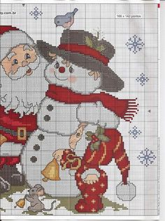 This Pin was discovered by Mel Santa Cross Stitch, Cross Stitch Christmas Stockings, Christmas Cross, Cross Stitch Charts, Cross Stitch Designs, Cross Stitch Patterns, Cross Stitching, Cross Stitch Embroidery, Embroidery Patterns