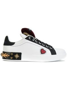heart and stud embellished Portofino sneakers