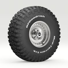 Off Road wheel and tire 6 - model model of a BFGoodrich Mud Terrain tire on American Racing Outlaw wheel. The model was created with Max 2016 Rv Tires, Off Road Tires, Truck Tyres, Off Road Wheels, Wheels And Tires, Best Pickup Truck, American Racing Wheels, Performance Tyres, All Terrain Tyres