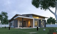 Beautiful homes in several sizes for you to choose from and create Modern Bungalow House Design, Minimal House Design, Modern Small House Design, Small Modern Home, Single Storey House Plans, One Storey House, Style At Home, Beautiful Modern Homes, Flat Roof House