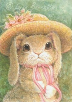"""Bunny Bonnet"" ~ Art by Lynn Bonnette: April 2011"