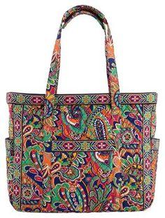 Vera Bradley Get Carried Away Venetian Paisley Travel Bag