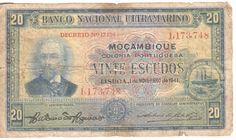 1941 Mozambique - 20 escudos banknote