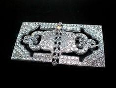 Strassbrosche Crystal/Kristallklar - Gablonz/Böhmen um 1930   Vintage Bohemian Crystal Rhinestone Brooch/Pin