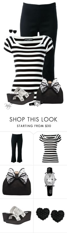 """""""Casual Black & White"""" by pinkystyle ❤ liked on Polyvore featuring Ginger & Smart, Dolce&Gabbana, Miss KG, Chopard, Yellow Box and Betsey Johnson"""