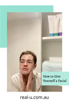You asked… and here it is! Our easy way to give yourself a facial at home using real-u skincare products. Skin Tips, Skin Care Tips, Acne Prone Skin, Pimples, Body Lotion, Healthy Skin, Cleanser, Serum, Eyebrows