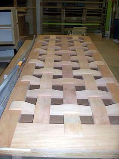 The Woven Door... by Lancia Brothers Woodworking and Fixtures in St. Louis, Mo.
