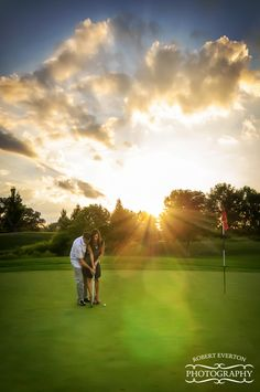 Annie & Jon  #Golf #Engagement # Session Robert Everton Photography  # Engagement #summer #RobertEvertonPhotography www.roberteverton.com www.facebook.com/robertevertonphotography