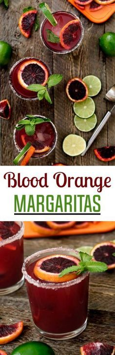 Blood Orange Margaritas ~ made with fresh-squeezed citrus, agave nectar & your favorite tequila. So simple & refreshing! Blood Orange Margaritas - http://veganhuggs.com/blood-orange-margaritas/