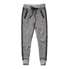 Abercrombie & Fitch Eve Textured Joggers ($18) ❤ liked on Polyvore featuring activewear, activewear pants, pants, bottoms, pantalones, sweatpants, heather grey, slouchy sweatpants, jogger sweat pants and cuff sweatpants
