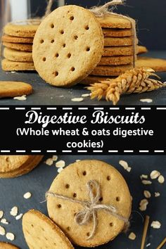 Digestive Biscuits Whole wheat oats digestive cookies digestives digestivebiscuits cookie oats wheat baking eggless aromaticessence Digestive Cookie Recipe, Digestive Cookies, Digestive Biscuits, Baking Recipes, Cookie Recipes, Dessert Recipes, Flour Recipes, Healthy Cookies, Crack Crackers