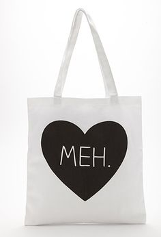 Meh Graphic Canvas Tote | FOREVER21 - 1000079060