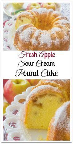 Mini Desserts, Apple Desserts, Apple Recipes, Fall Recipes, Delicious Desserts, Plated Desserts, Sour Cream Desserts, French Desserts, Keto Desserts