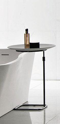Mesita auxiliar / contemporáneos / de en acero inoxidable - FARAWAY: 8TR01BI by Ludovica & Roberto Palomba - KOS