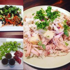 Whole 30 Round 2 - Day 8 Holy moly!! Dinner tonight was amazing!! It looks complicated but it was soooo simple to make. This is the best part of Whole30...discovering meals that will become staples for a lifelong journey of healthy eating. Breakfast - grapes prosciutto and banana egg cups (I'm not lying when I describe it. That's all it is. Banana mixed with eggs and baked at 350 degrees). Crazy simple! Lunch - taco salad. Tons of veggies with ground turkey. Spritz of lime for dressing…