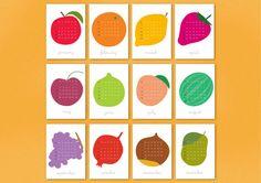 Calendar fruits 2015 on Behance