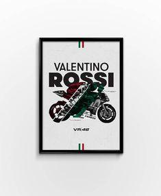 Valentino Rossi Moto GP Motorbike Sports Bike Minimilistic