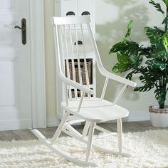 Fotel bujany Henry white, 54x44x114cm - Dekoria #white #meble #biale #furniture #interior #idea #design