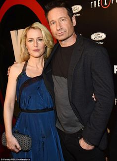 Fans' delight: The pair are reprising their roles ofFBI agents Scully and Mulder for the X-Files revival series