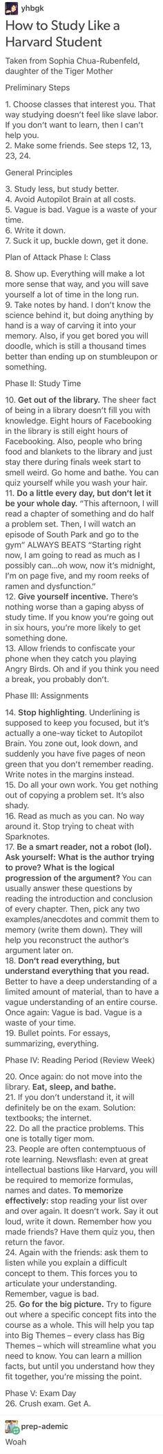 How to study like a harvard student